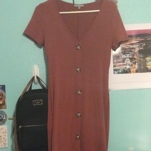 Long button down dress